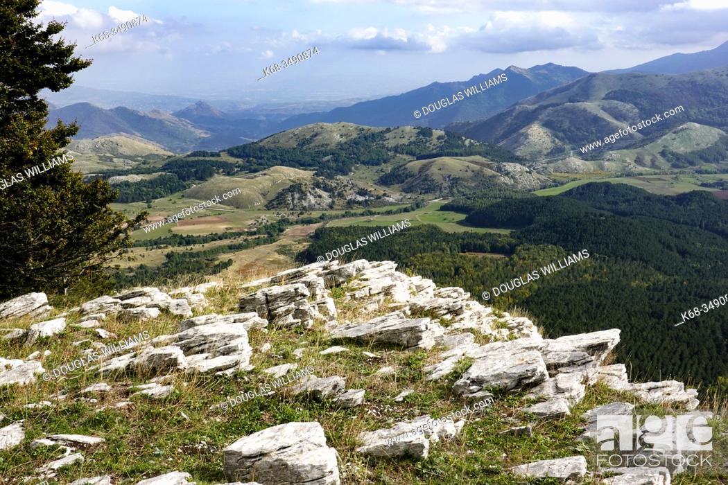 Stock Photo: Mountain landscape near Mormanno, Calabria, Italy.