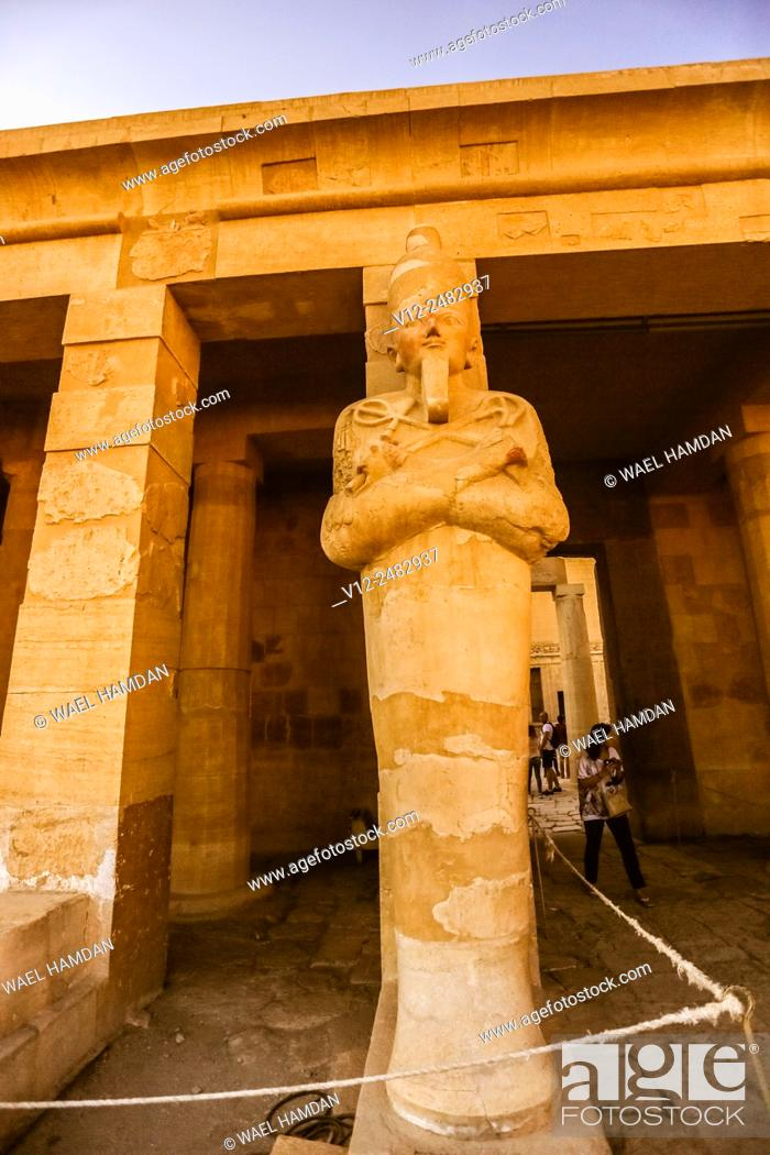 Stock Photo: Temple of Queen Hatshepsut Deir el-Bahri, luxor Thebes, Egypt.