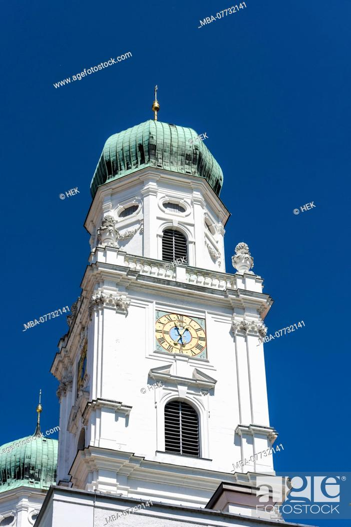 Stock Photo: Tower of the Stephansdom in Passau.