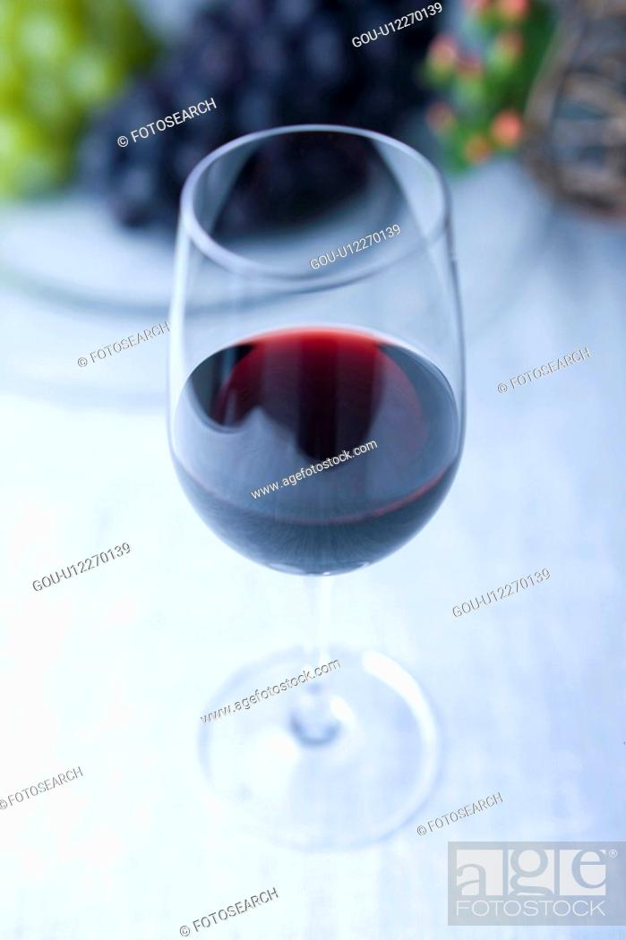 Stock Photo: Red wine.