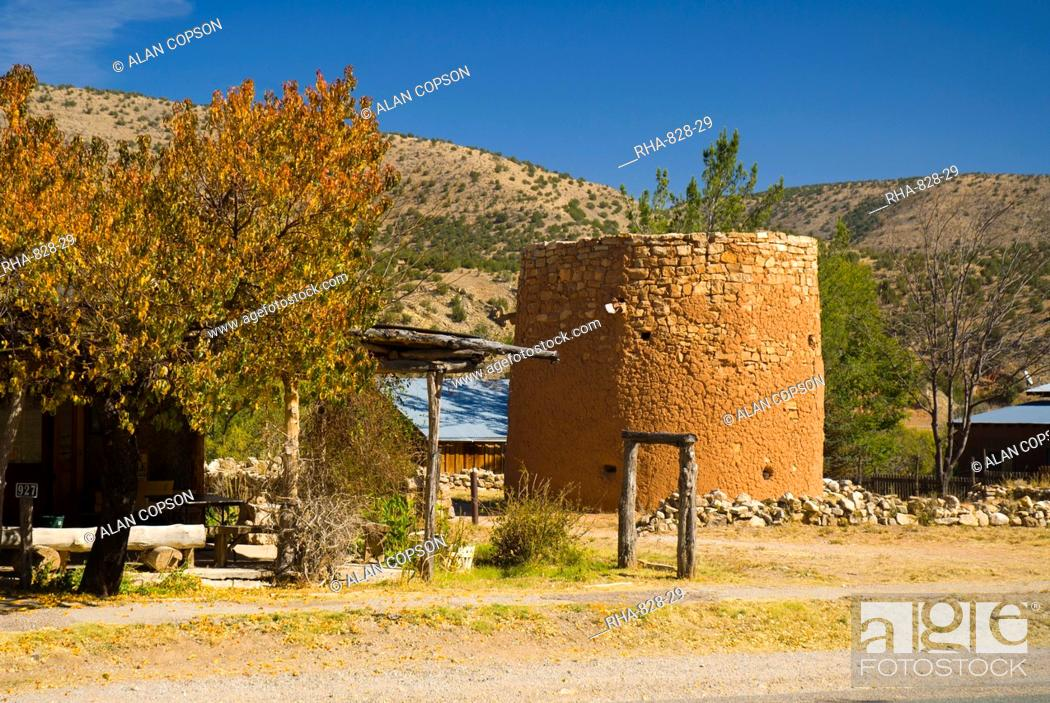Stock Photo: The Torreon, originally used defensively against the Apaches, Lincoln, New Mexico, United States of America, North America.