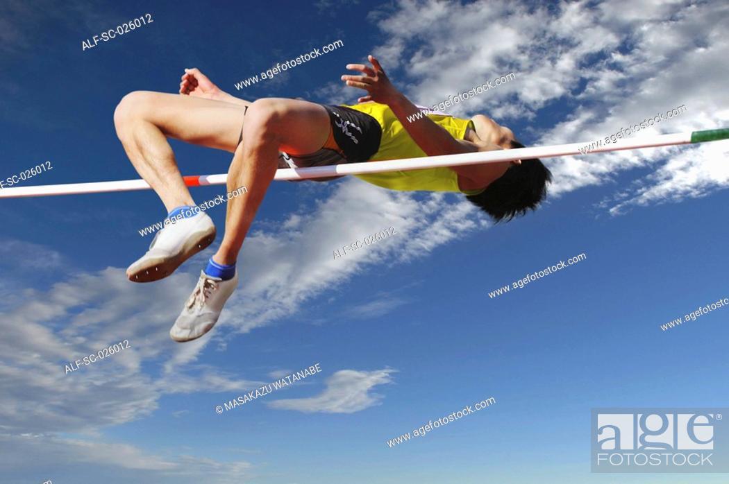 Stock Photo: High Jumper.
