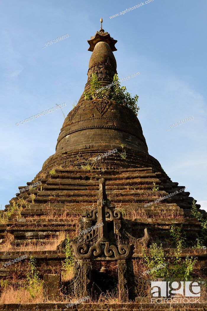Imagen: Myanmar, Rakhine State, Mrauk U, Mongkhon Shwegu pagoda.