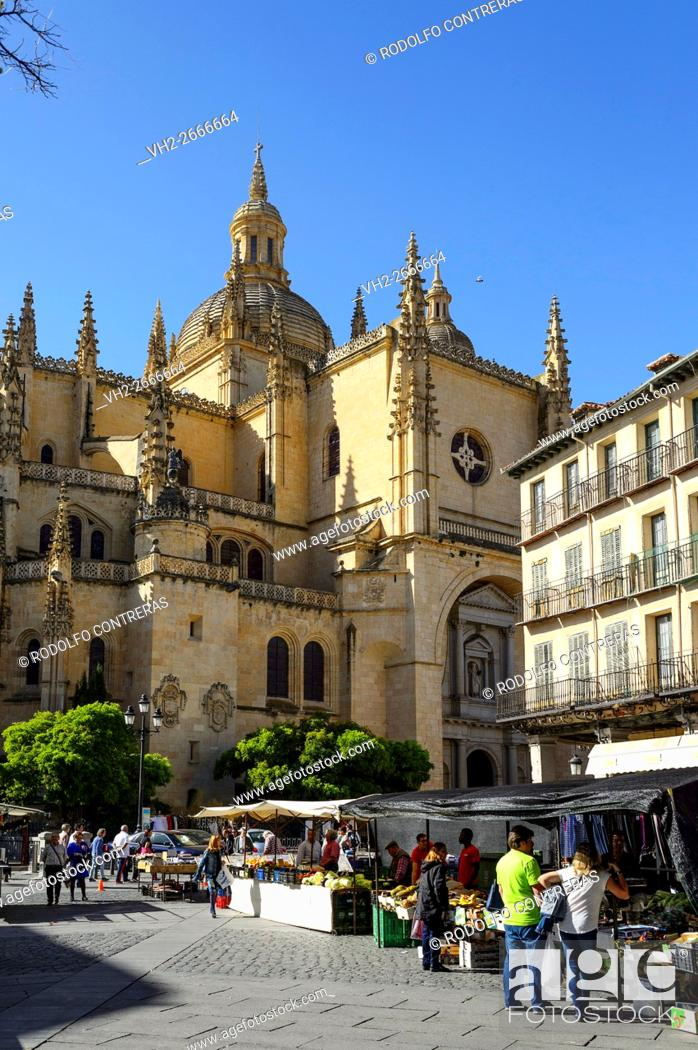 Stock Photo: Segovia cathedral.