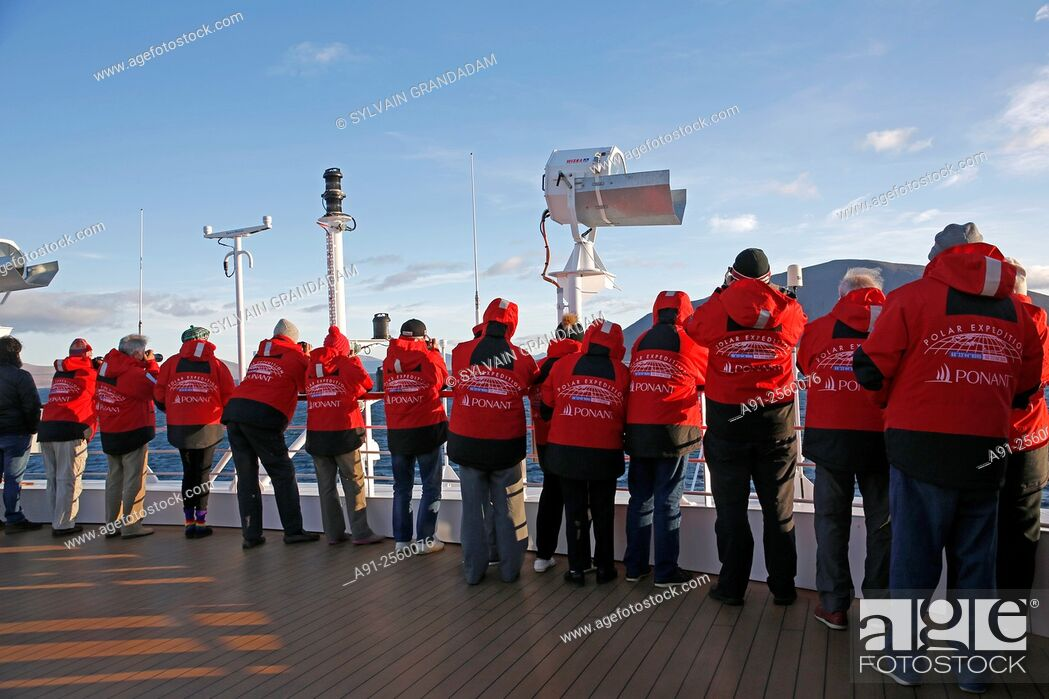Stock Photo: Kamchatka Cruise on Ponant company Soleal cruise ship, departure from Nome, Alaska, to Petropavlosk.