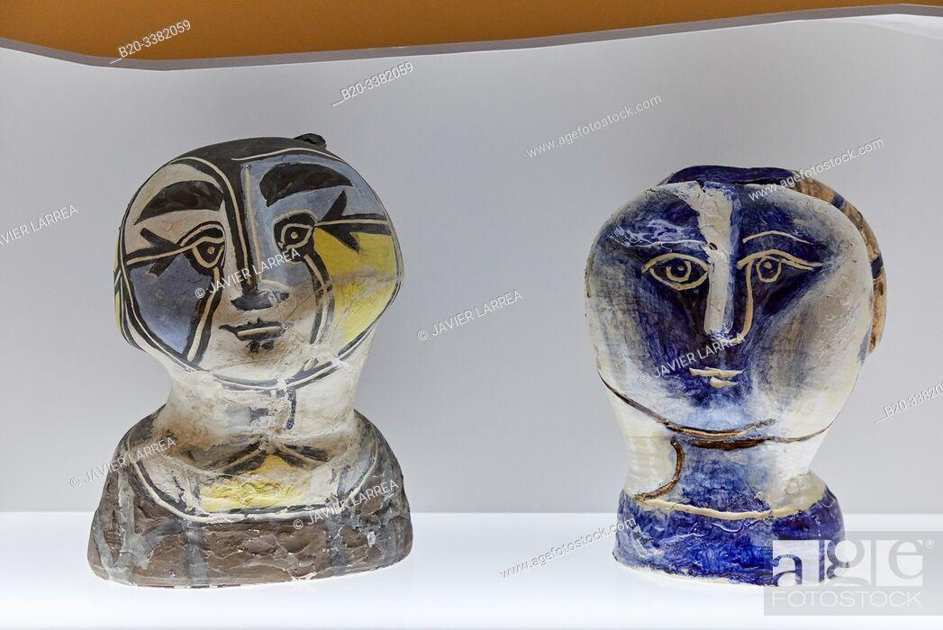 """Stock Photo: """"Tête de femme á la résille"""", 1948-1950, Pablo Picasso, Picasso Museum, Paris, France, Europe."""