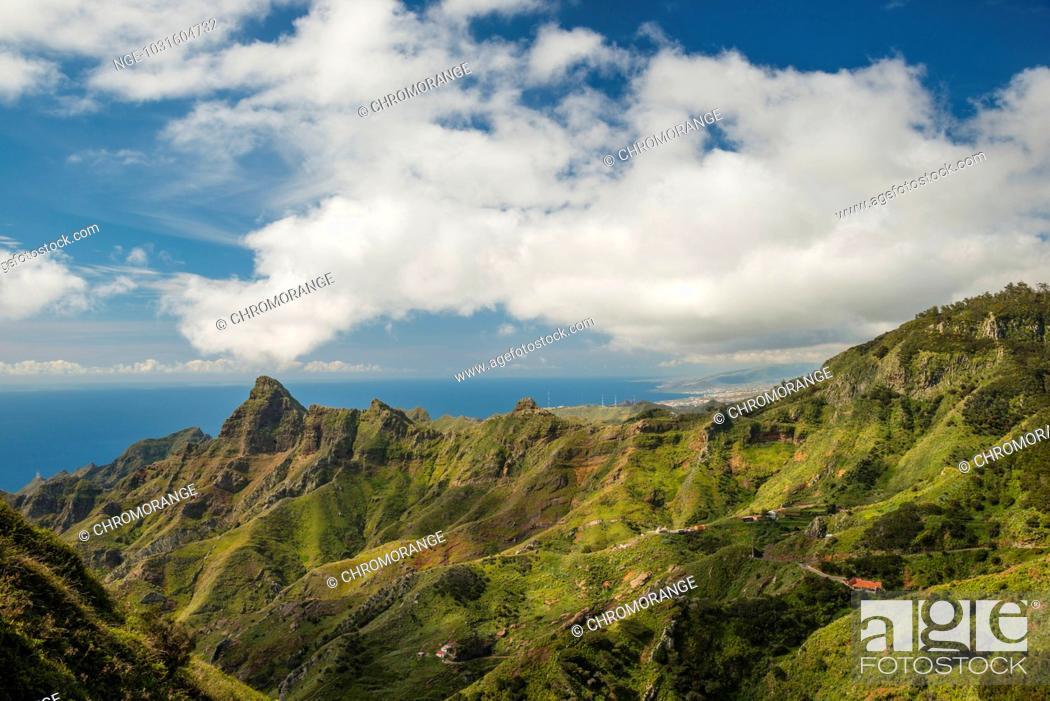 Imagen: Panorama von Mirador Pico del Inglés, Las Montanas de Anaga, Anaga Gebirge, Teneriffa, Kanarische Inseln, Spanien, Europa.