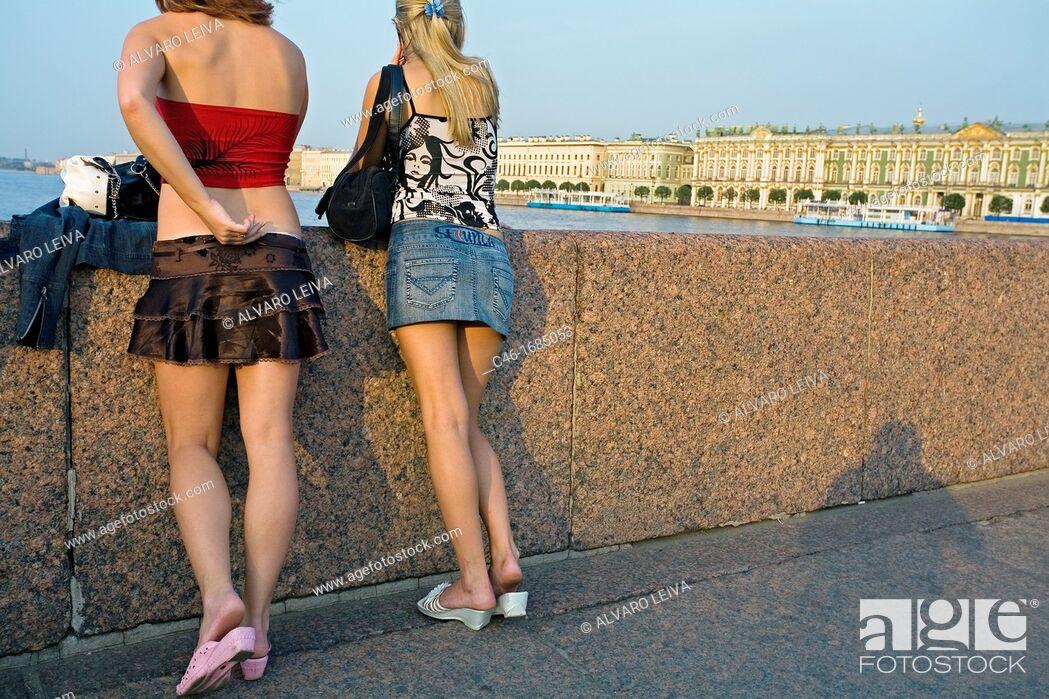 Stock Photo: Hermitage Museum and Neva River  St  Petersburg  Russia.