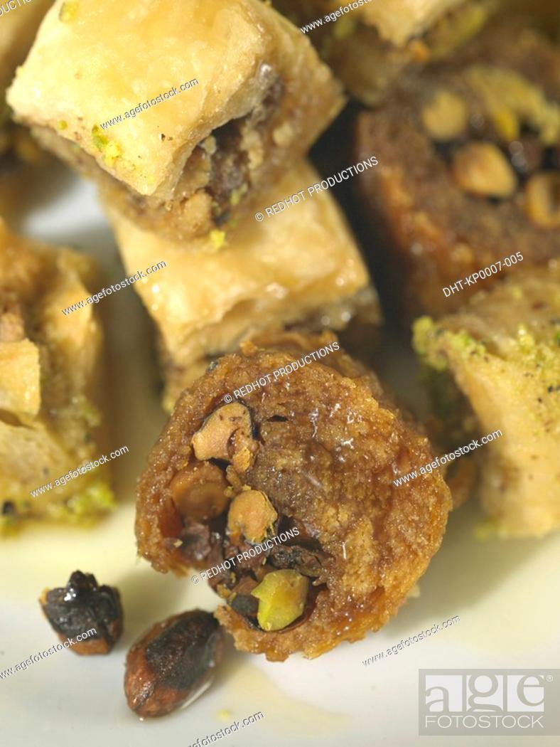 Stock Photo: Food - Pastries, Baklawa.