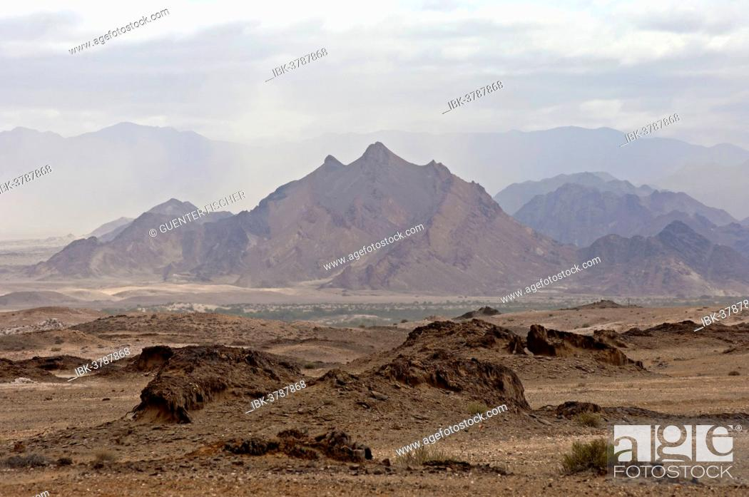 Stock Photo: Lunar landscape with no vegetation in the Richtersveld National Park, Northern Cape Province, South Africa.