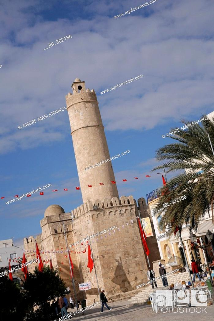 Stock Photo: Sousse Ribat, Tunisia. It is the most famous and wellknown ribat in Tunisia. It was built 787 - 821 AD.