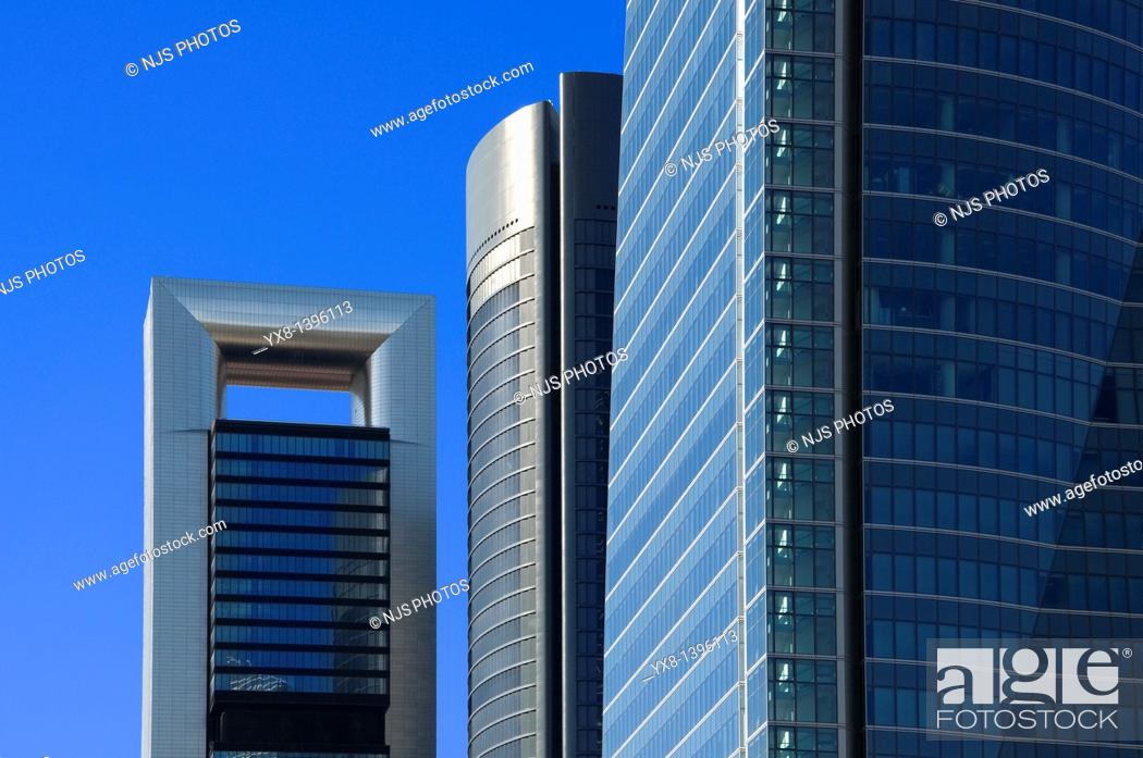 Photo de stock: View of Caja Madrid tower, before known as Torre Repsol, located in Cuatro Torres Business Area of Madrid, Comunidad de Madrid, Spain, Europe.