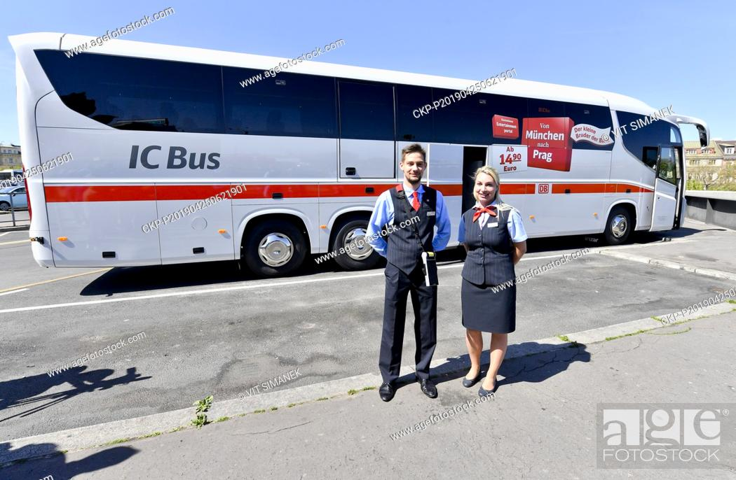 Companies Student Agency Regiojet Deutsche Bahn And Scania Present New Bus Fleet For Db Ic Bus Stock Photo Picture And Rights Managed Image Pic Ckp