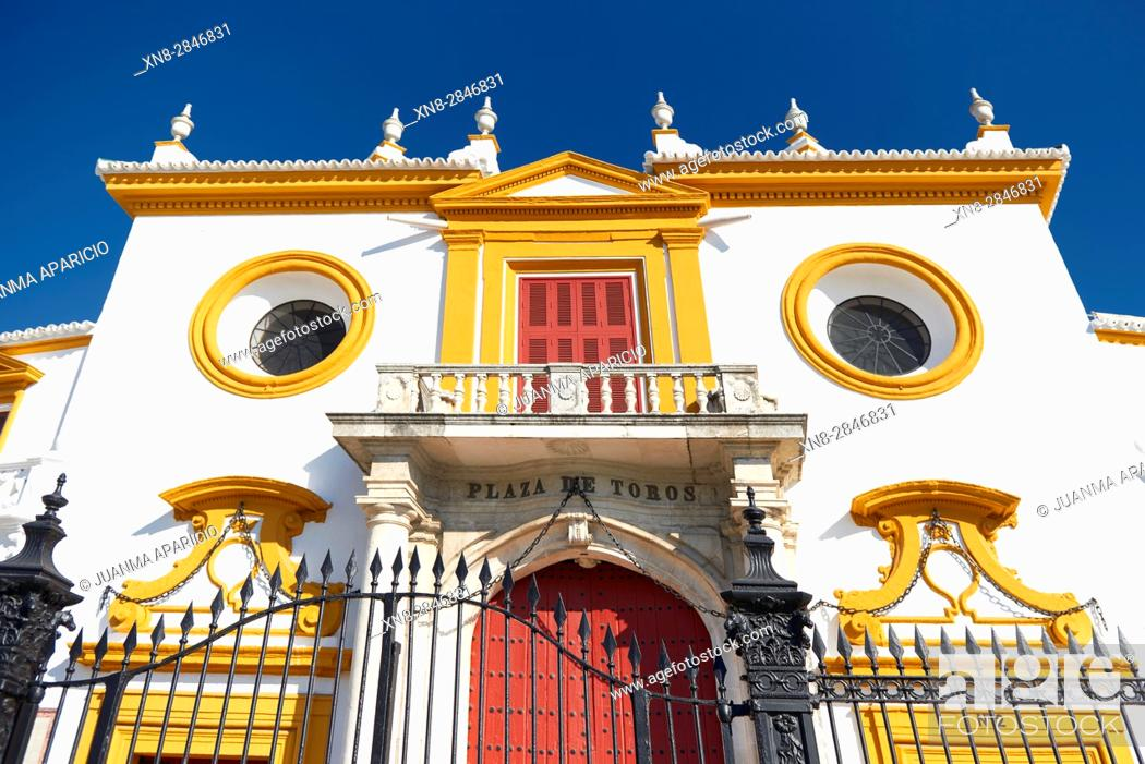Stock Photo: Plaza de Toros de La Maestranza, Sevilla, Andalusia, Spain, Europe.