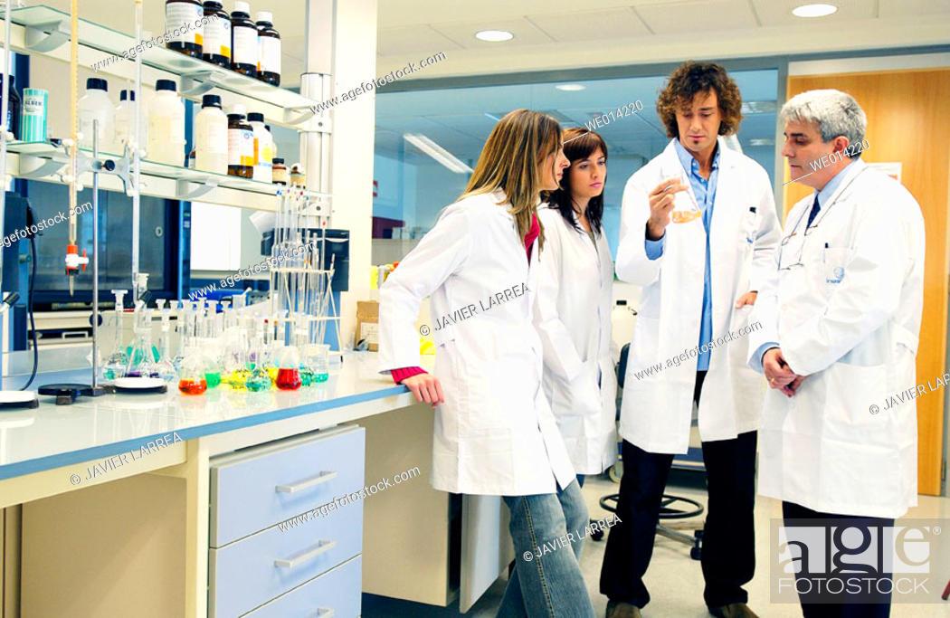Stock Photo: Chemical characterization laboratory.