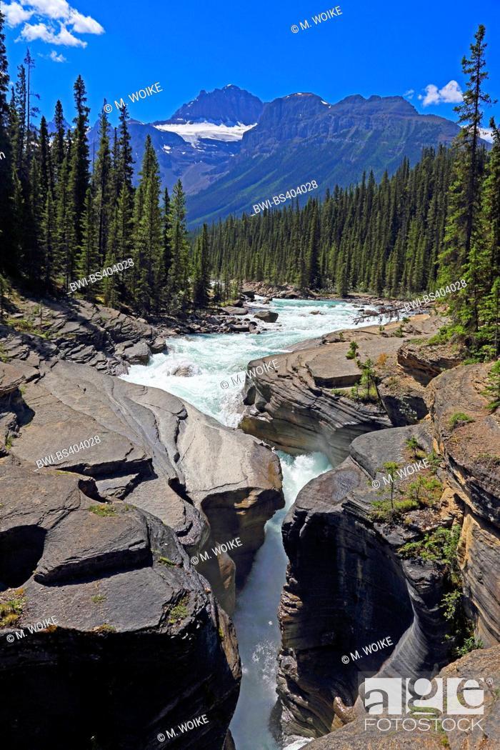Stock Photo: Mistaya Canyon, Canada, Alberta, Banff National Park.