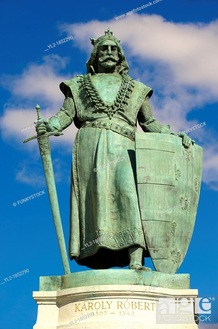 Stock Photo: Statue of King Robert - Hsök tere,  Heroes Square  Budapest Hungary.