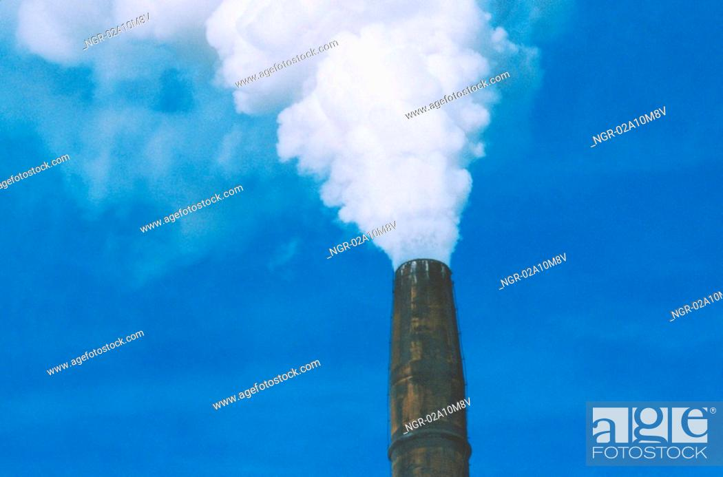 Stock Photo: Smoke Stack.