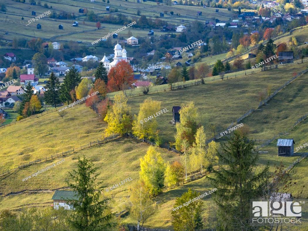 Stock Photo: Buchovina Romania Scenic Landscape.