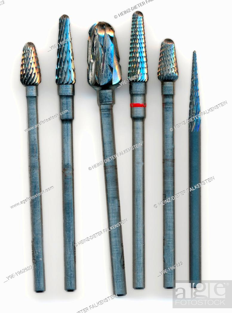 Stock Photo: Drill bits of a dental drill.