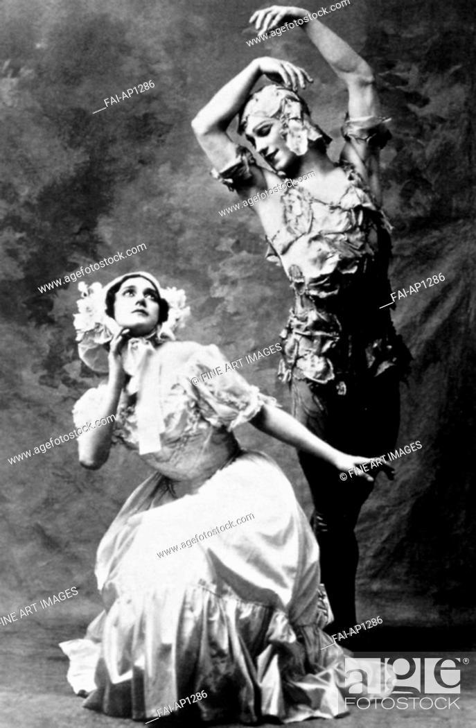 Vintage Ballet Poster Nijinsky in role from /'Le Spectre de la Rose/' in 1911