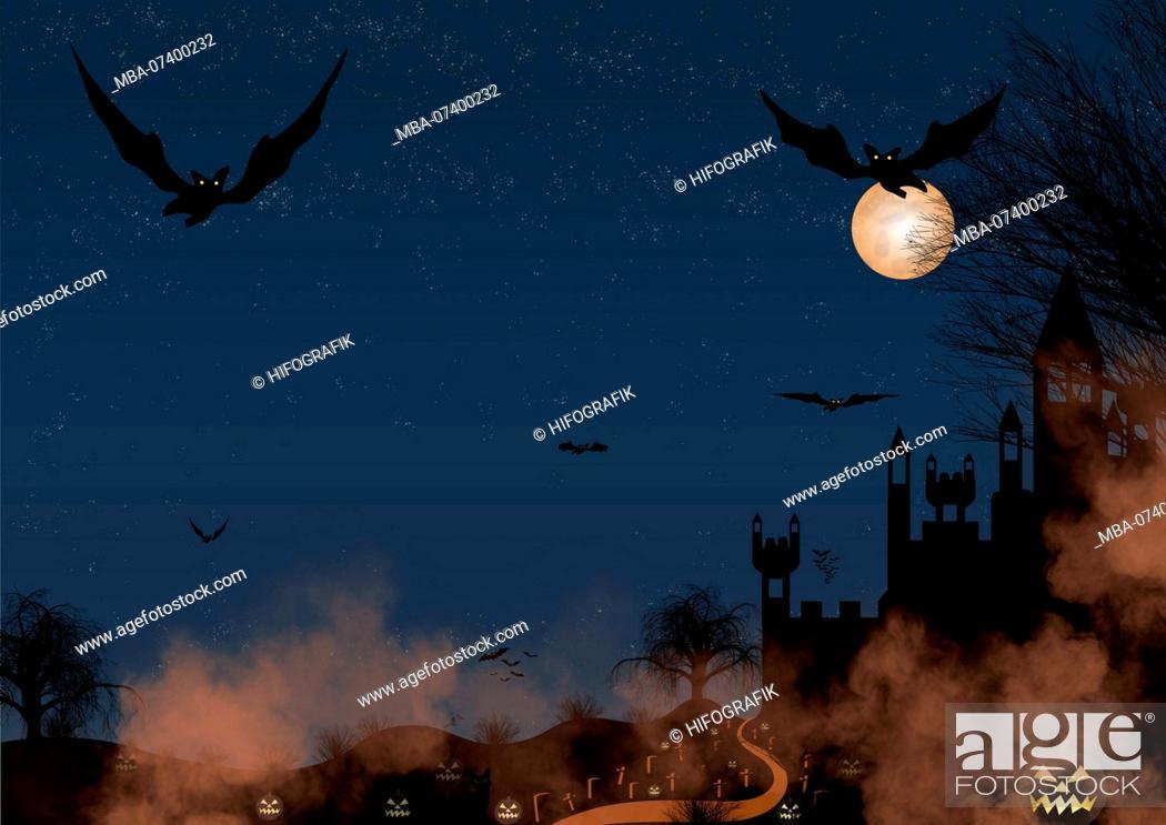 Stock Photo: Halloween, bat.