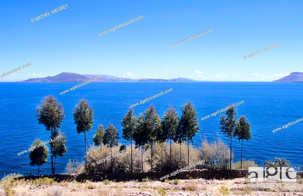 Stock Photo: Peru - Titicaca Lake - Taquile.