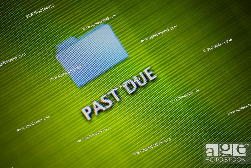 Stock Photo: Close-up of a visual screen.