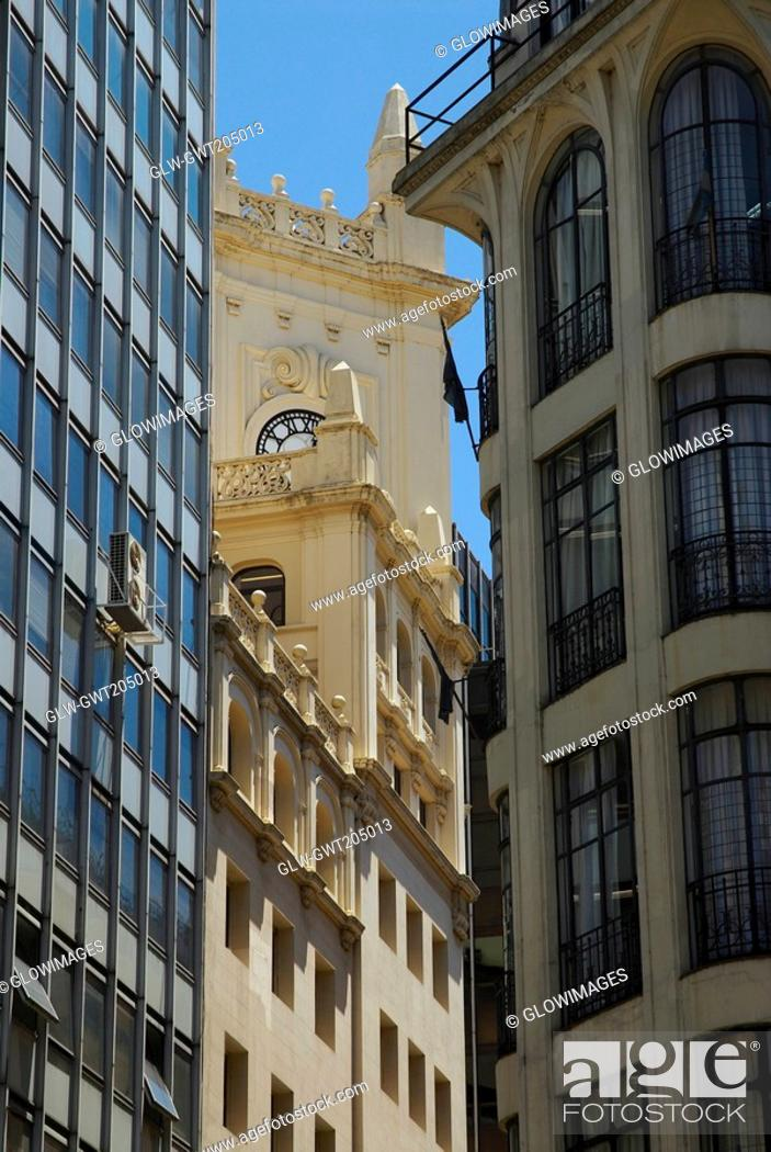 Stock Photo: Low angle view of buildings, Buenos Aires, Argentina.