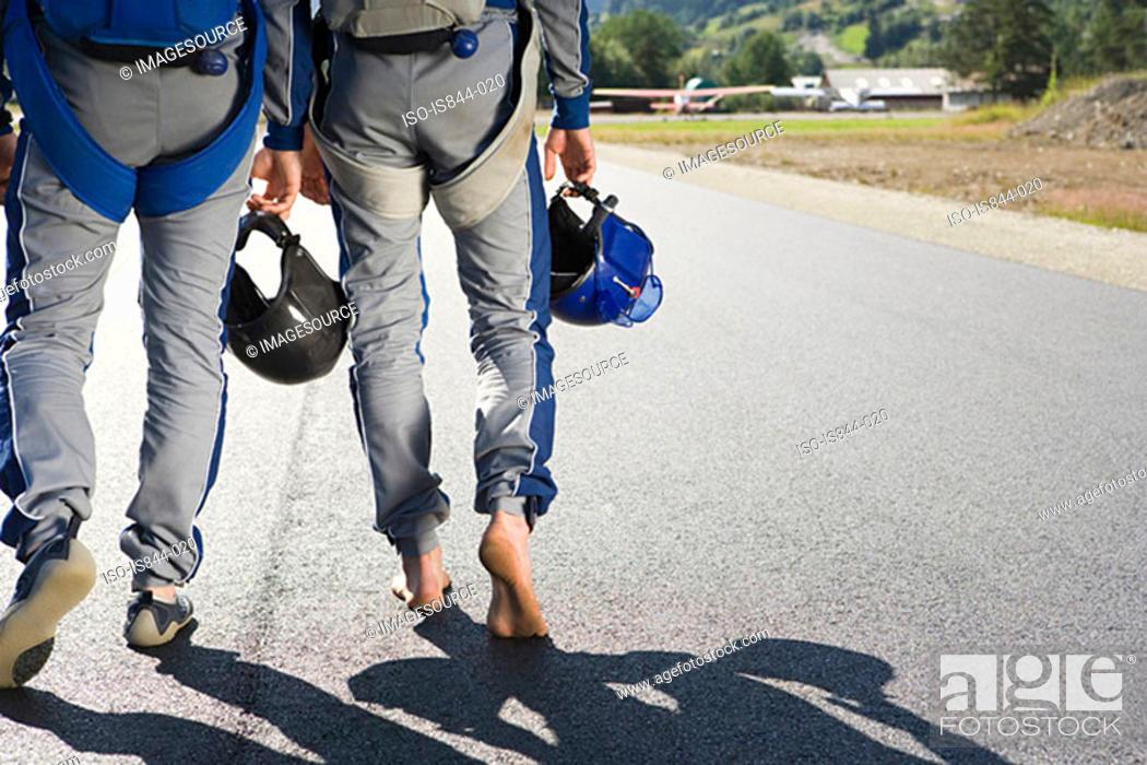Stock Photo: Two parachutists.