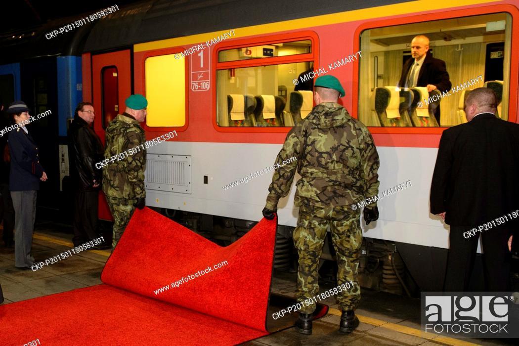 President of Mongolia Tsakhia Elbegdorj arrived in Prague by a