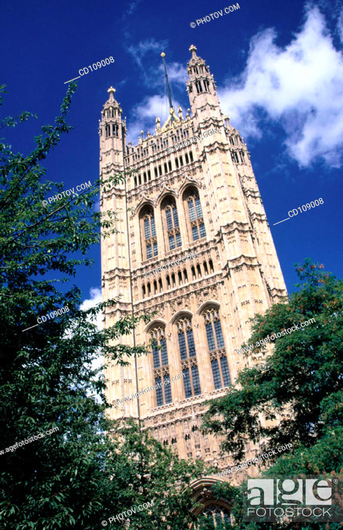 Stock Photo: Houses of Parliament (Westminster Palace). London. England.