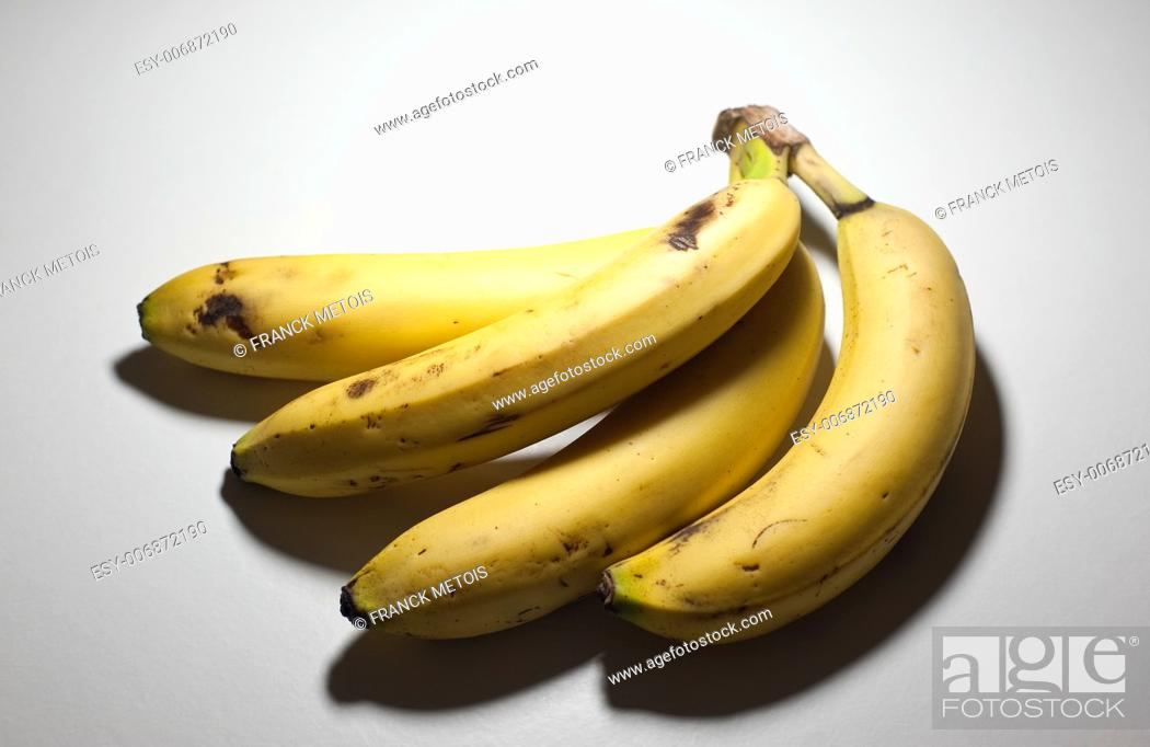 Stock Photo: Bananas on a white background.