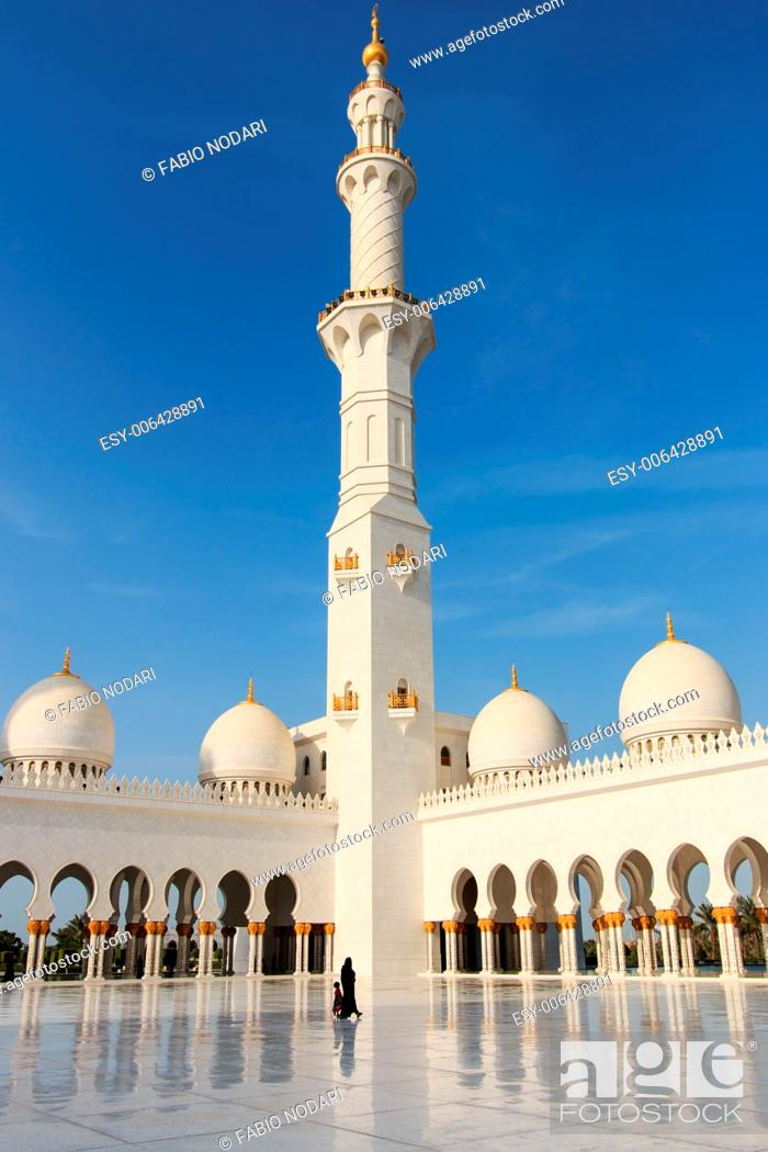 Stock Photo: Sheikh Zayed mosque in Abu-Dhabi.