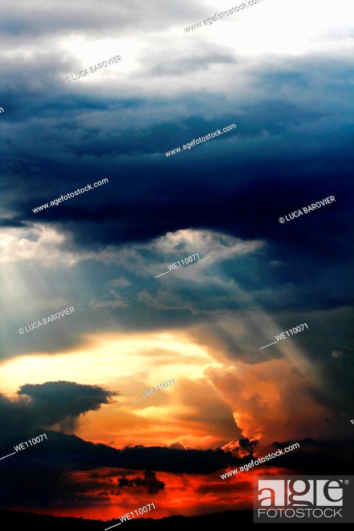 Stock Photo: Cloudy sky in Gubbio, Perugia, Umbria Italy.