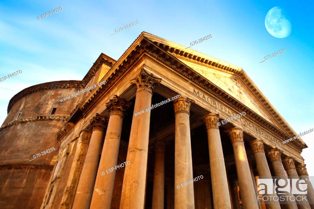 Stock Photo: The Pantheon. Rome. Italy.