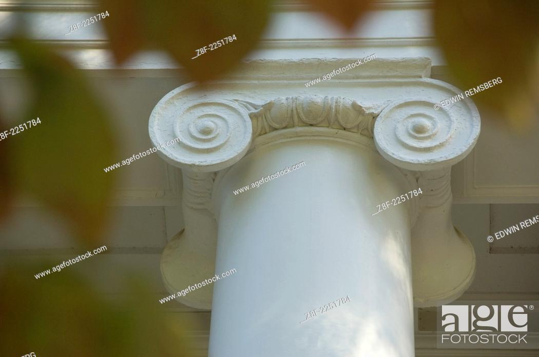 Stock Photo: Columns at the University of Maryland.