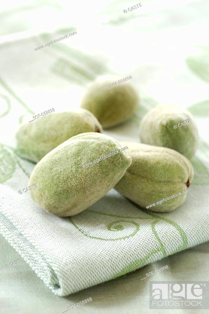 Stock Photo: fresh almonds.