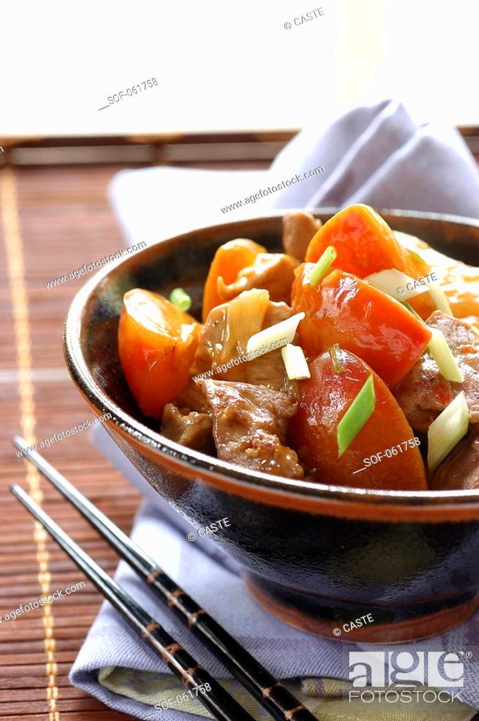 Stock Photo: sweet and sour pork.
