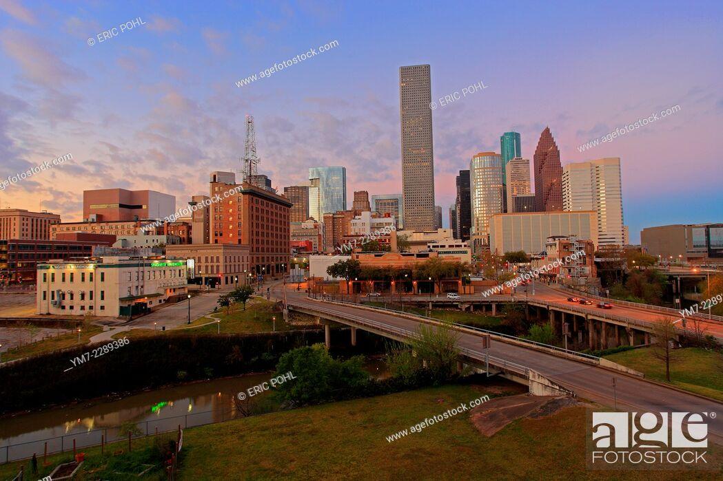 Stock Photo: Houston Downtown - Houston, Texas.