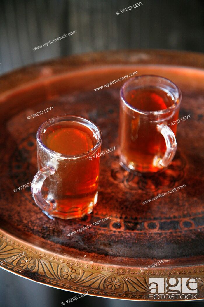 Stock Photo: Bedouin tea, Jordan.