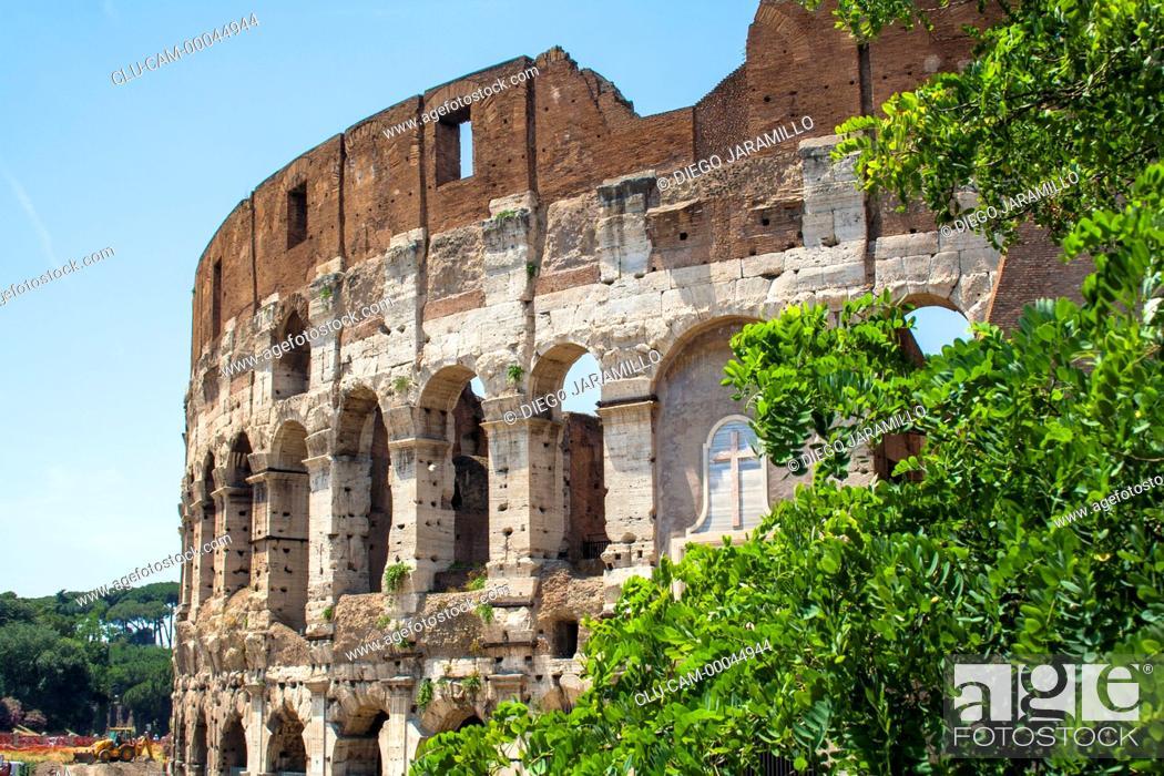 Stock Photo: Roman Coliseum, Rome, Italy, Western Europe.
