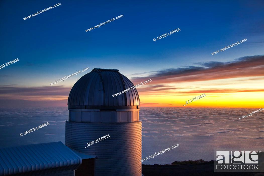 Stock Photo: The Mercator Telescope, Roque de los Muchachos Observatory, La Palma, Canary Islands, Spain...The Mercator Telescope is a 1.