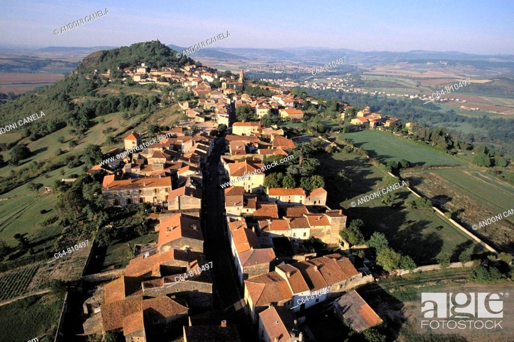 Stock Photo: Aerial view on Auvergne region, France.