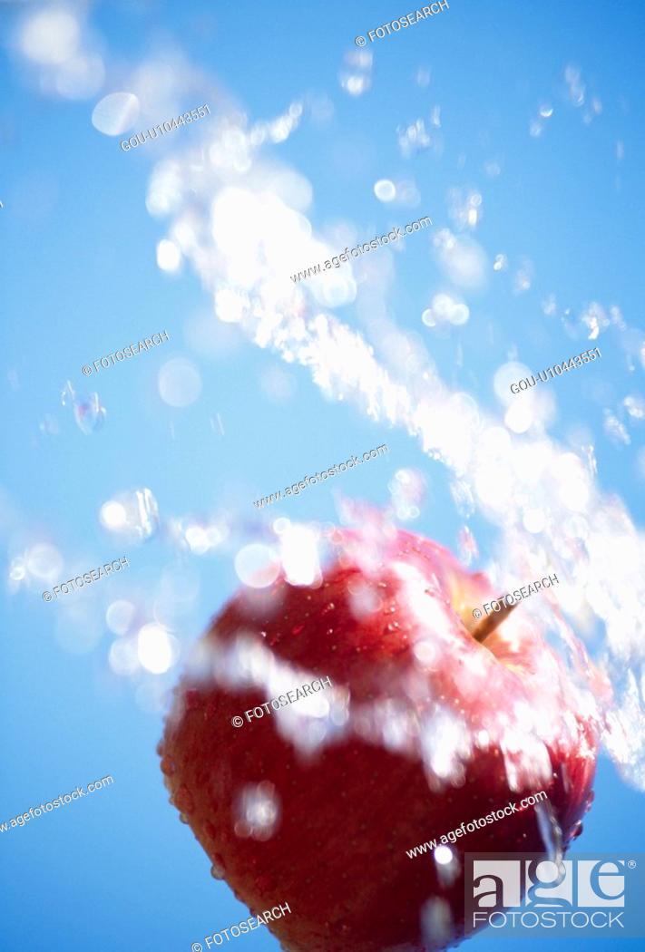 Stock Photo: A Spray And An Apple.