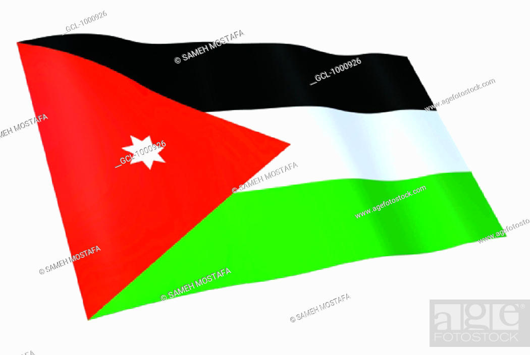 Stock Photo: flag of Jordan.