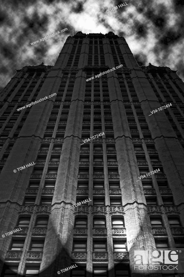 Stock Photo: Night over New York.