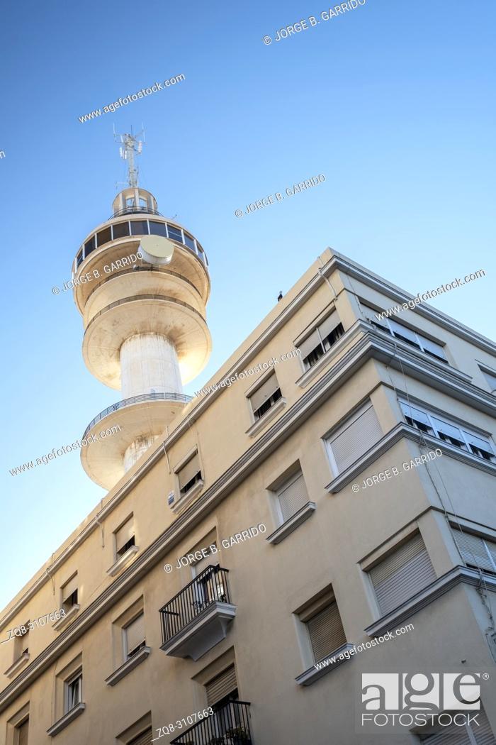 Stock Photo: National Police station Cádiz, Spain.