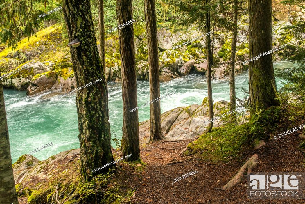 Stock Photo: Cheakamus River, near Whistler, BC, Canada.