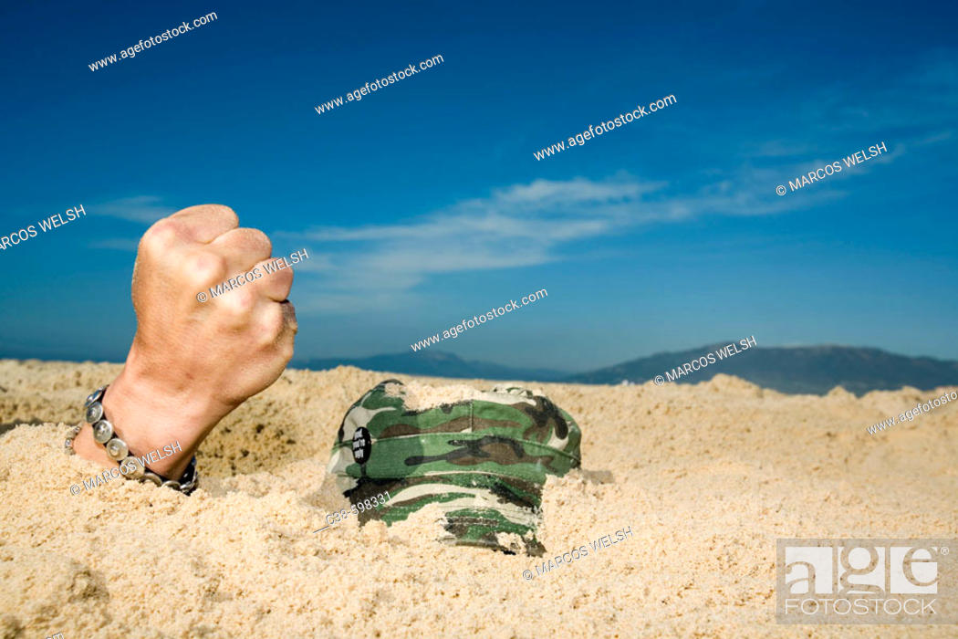 Stock Photo: Burried Person.